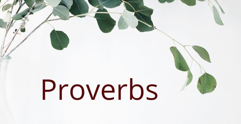 Proverbs In Vernacular
