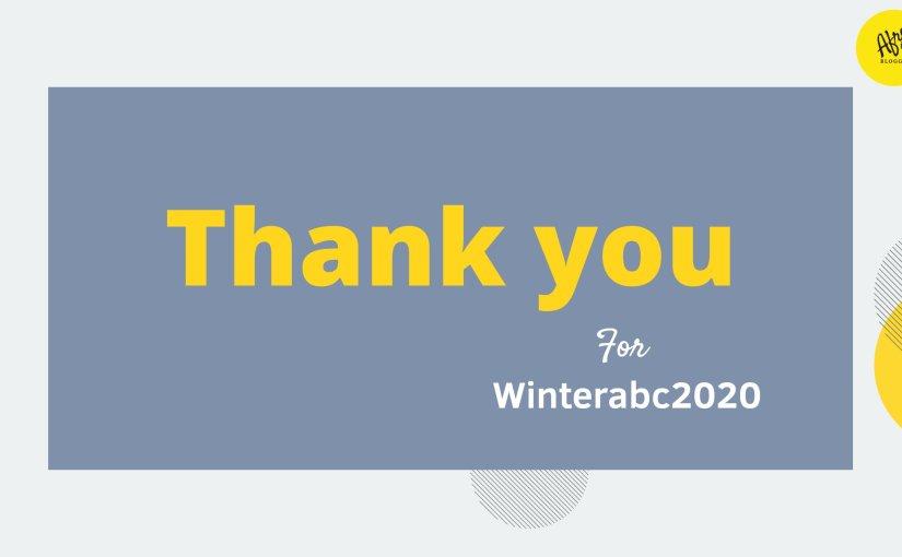 #WinterABC Final Day: AppreciationLetter